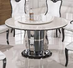 interior and home vanity white marble top round dining set for affordable home table