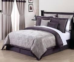 purple and grey bedding queen purple embroidered comforter set purple and grey bedding ensemble by lawrence