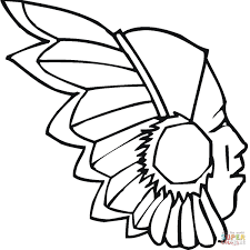 Indian Coloring Pages Printables Wumingme