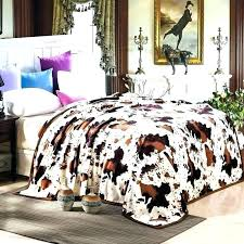 cow print bedding leopard set on demand sets black and white cute pattern asda rodeo comforter