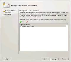 Exchangepedia HOW TO Grant Full Mailbox Access permission