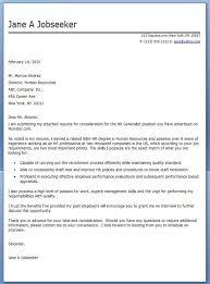 Lpn Cover Letter Sample Alluring Hr Generalist Cover Letter Examples