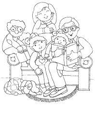 Small Picture Coloring Pages Family In Living Room Carameloffers