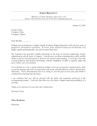 Best Solutions Of Cover Letter For Information Technology Support