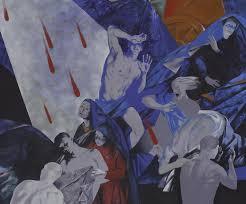 """Монументальная живопись Анны Аникиной Фрагмент дипломной работы """"Божественная комедия Данте Алигьери """" Роспись в театральное фойе размер 3х14 7м"""