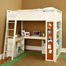 I  Enchanting Kids Loft Bed With Desk Beds  Canada Home