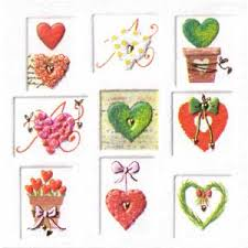 Italian Mini Gift Card Hearts In Squares New Zealand Online Gift