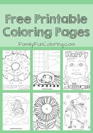 Printable Unique Coloring Pages To Enjoy Familyfuncoloring