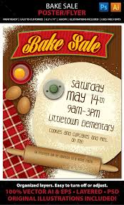 Bake Sale Flyer Templates Free Bake Sale Graphics Designs Templates From Graphicriver