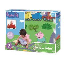 peppa pig tile mega foam playmat puzzle with vehicle 9 piece zoom