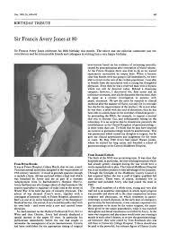 Sir Francis Avery Jones at 80.   Gut