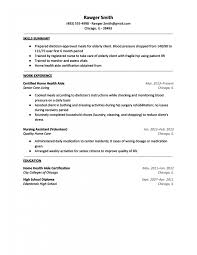 Certified Home Health Aide Resume Sample Care Yun56 Co Examples