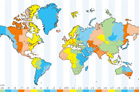 Time Map How Many Time Zones In The World