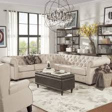 Knightsbridge Tufted Scroll Arm Chesterfield 6-seat L-shaped Sectional by  iNSPIRE Q Artisan by iNSPIRE Q