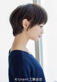 ナチュラルショート美人田中美保風の髪型で大人かわいさアップhair