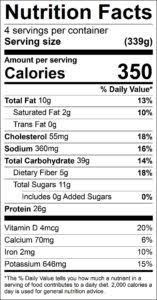 roasted tilapia with orange parsley salsa nutrition facts serving size 339g servings per conner