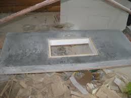 bathroom concrete countertop