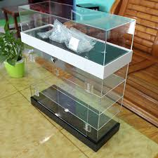 Acrylic Showcase Display Stand 3 Tier China Acrylic Showcase 100tier Display Case with Lock and 2