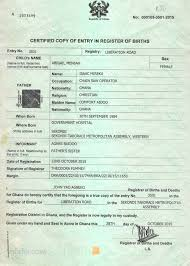 Apply For Your Ghana Biometric Birth Certificate Online Get It In