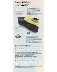 Spenco Size Chart Spenco Polysorb Heavy Duty Occupational Insoles