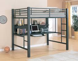 image of ikea tromsö grey metal loft bed frame