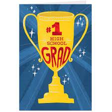1 Grad High School Graduation Cards Pack Of 6