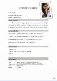 Resume Ms Word Format Download Inspiration Latest Professional Resume Formats In Word Format For Free Download