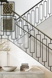 Image result for flat modern railings on walnut stairs