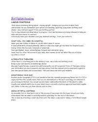 Different Birth Plan Options 47 Printable Birth Plan Templates Birth Plan Checklist