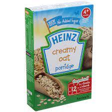 Bột ăn dặm Heinz Anh 4+ cháo kem yến mạch - Kids Plaza