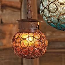 Southwest Glass Sphere Pendant Light Small Cabin Small