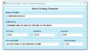 raffle software raffle tickets software business hours template free ticket with