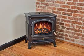 comfort smart vermont black electric fireplace stove with remote control cfs 26 blk
