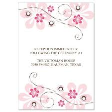 Pink Brown Reception Card Templates Crystal Fuschia Do It