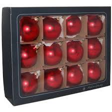Weihnachtskugel Weihnachtsrot Matt Thüringer Weihnachtsschmuck Lauscha Glas