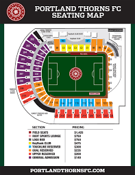 Volcanoes Stadium Seating Chart Portland Thorns Fc Seating Map Portland Timbers