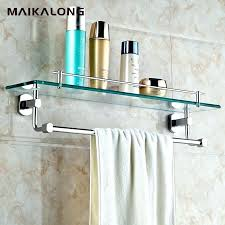 brass bathroom mirror with shelf outstanding and glass shelves rail antique chrome elegant book of towel