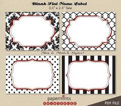 Table Labels Template Printable Blank Name Labels For Dessert Table Holiday Tag