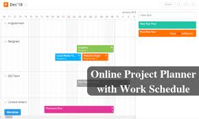 Online Work Schedule Free Interactive Project Planner With Work Schedule For