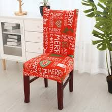 merry fl print santa chair covers spandex elastic stretch removable dining chair cover xmas home 6 colors available