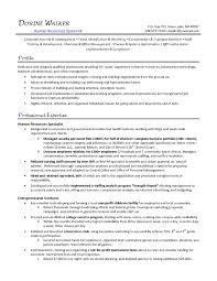 Resume For Human Resources Generalist New Ideas Human Resources