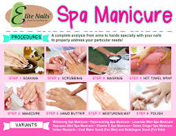 Spa manicure procedure