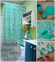 bathroom decorating ideas diy. How To Change The Décor Of Your Bathroom With A Simple DIY Shower Curtain - 15 Ideas Decorating Diy
