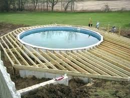 swimming pool decks. Above Ground Oval Pool Deck Plans Pictures In Decks Swimming Design Delectable Ideas