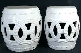 white garden stool stools blue and