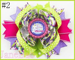 free shipping 3pcs 4.5'' inspired unicorn hair bows <b>cartoon</b> rainbow ...