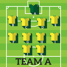 Soccer Playing Time Chart Soccer Team Football Players Chart Vector Premium Download
