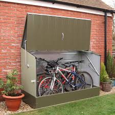 Trimetals Green Outdoor Heavy Duty Steel Bicycle Storage Locker - Free  Shipping Today - Overstock.com - 16897926