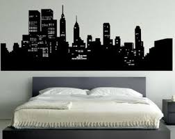 more colors new york skyline wall decal bedroom  on new york skyline wall art stickers with modern wall decal etsy