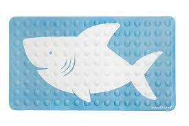 Amazon.com: Kikkerland Bathmat, Shark, Natural Rubber High Grip ...